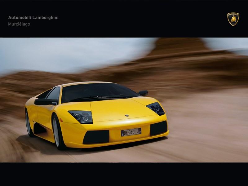 Lamborghini Murcielago 2006 вид спереди в динамике