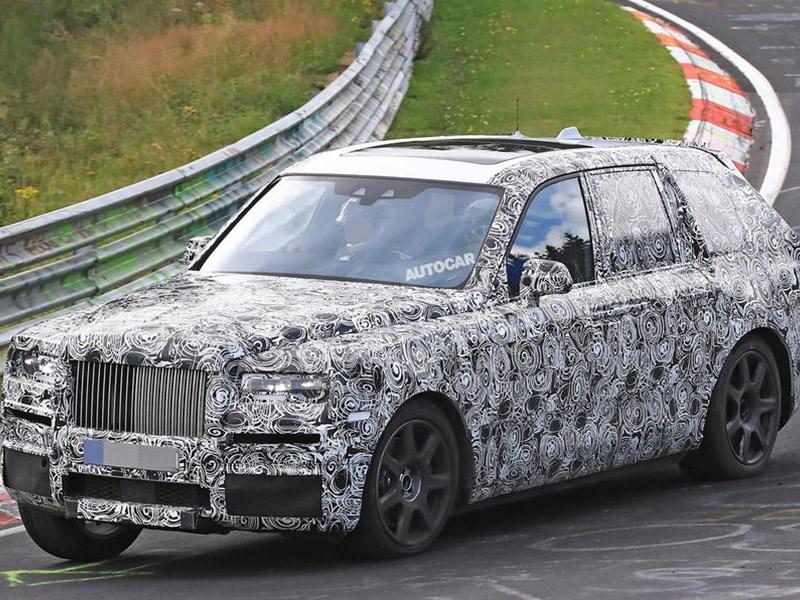 Rolls-Royce тестирует новый внедорожник Cullinan наНюрбургринге
