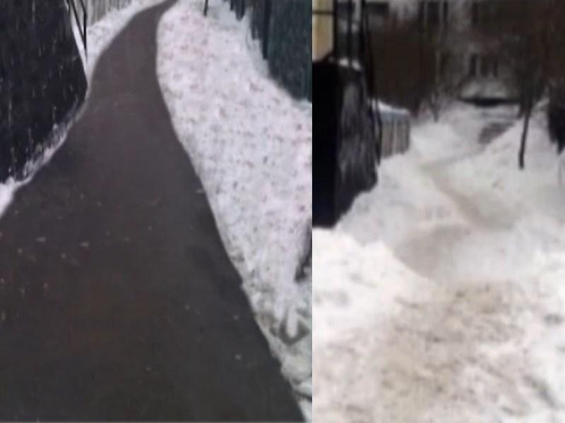 Власти убирают снег фотошопом