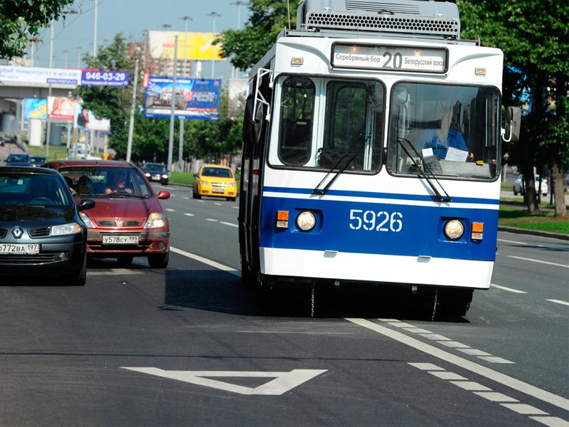 7 новых полос для общественного транспорта появится в столице