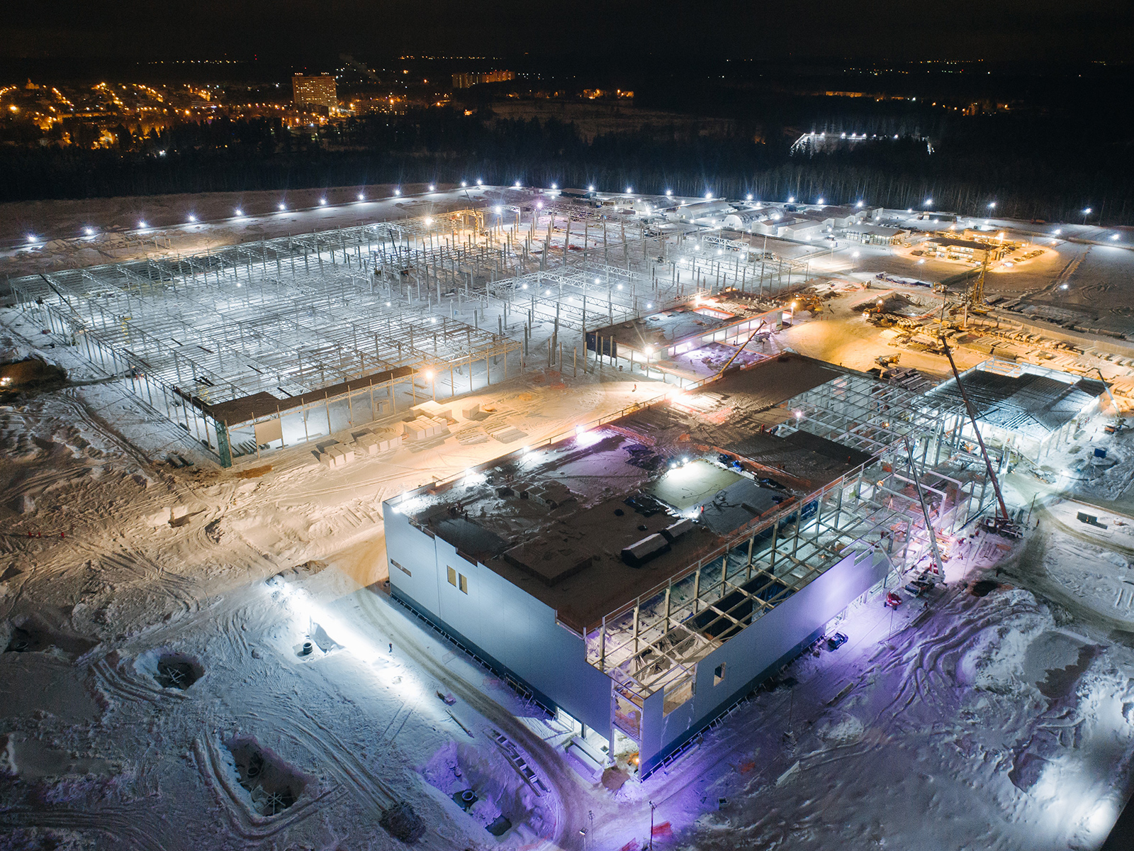 Строительство завода Mercedes-Benz в Солнечногорском районе Московской области